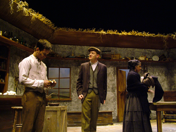 Christy, Sean, and Widow in The Playboy of the Western World, costume design by Katharine Tarkulich