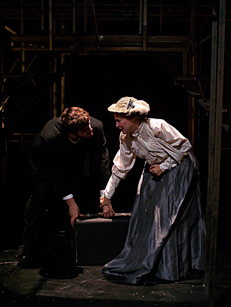 Leon Czolgosz and Emma Goldman from Sondheim's Assassins, costume design by Katharine Tarkulich