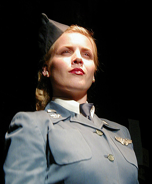 Jackie Cochran from Sky Girls, WWII costume design by Katharine Tarkulich