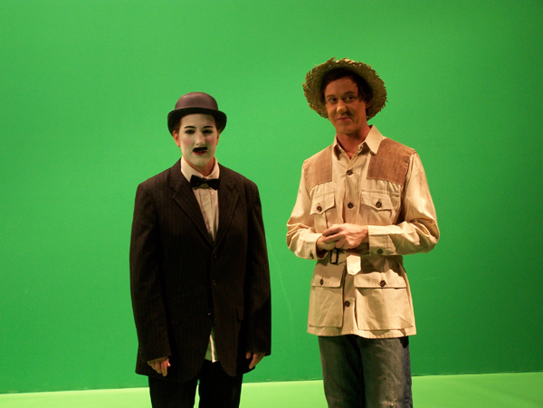 Marcel and Mr. Lum go fishing from Peas and Carrots T.V. promo, costume design by Katharine Tarkulich