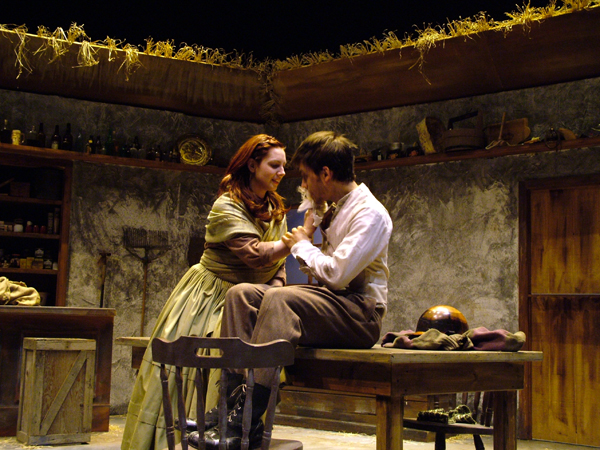 Pegeen and Christy in The Playboy of the Western World, costume design by Katharine Tarkulich