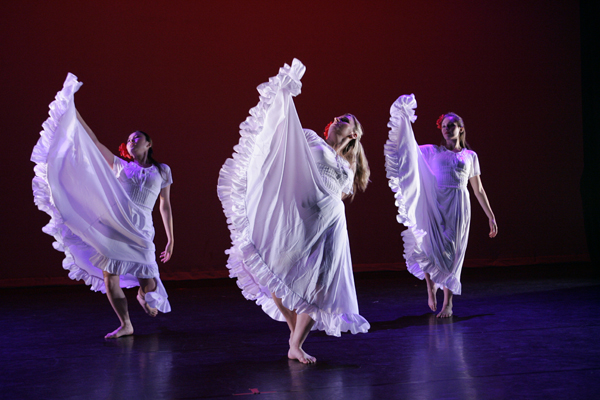 Una Palabra from Santa Ana College student dance concert, costume design by Katharine Tarkulich