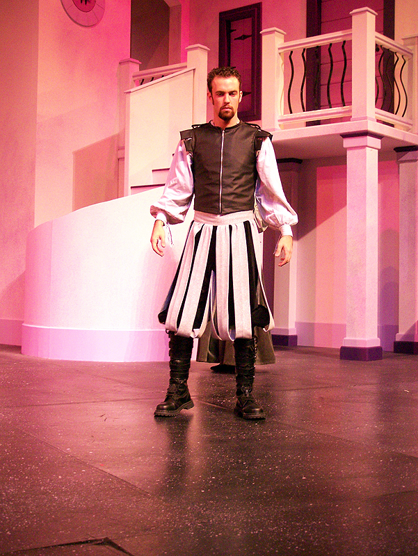 Petruchio in Shakespeare's The Taming of the Shrew, costume design by Katharine Tarkulich