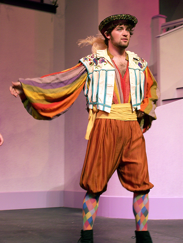 Grumio in Shakespeare's The Taming of the Shrew, costume design by Katharine Tarkulich