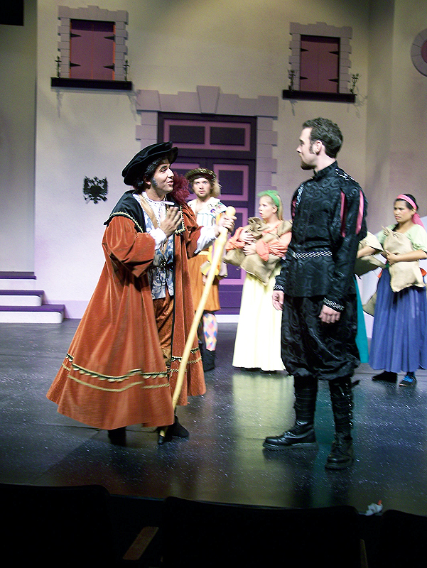 Vicentio and Petruchio in Shakespeare's The Taming of the Shrew, costume design by Katharine Tarkulich