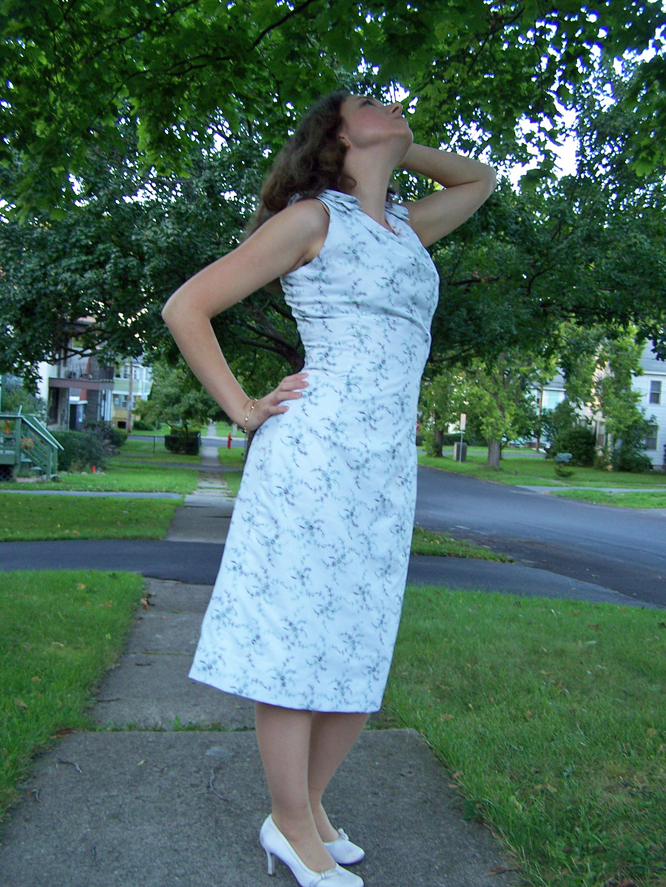 Vintage reproduction dress made by Katharine Tarkulich