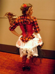 Steampunk fairy costume design by Katharine Tarkulich back view