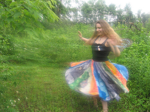 Elements skirt designed and dyed by Katharine Tarkulich