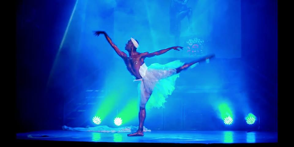 Swan Lake burlesque costume for Maestro Boylesque