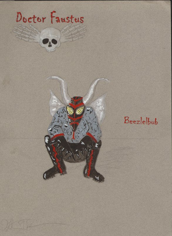 Beezlebub demon from Faustus, costume design by Katharine Tarkulich