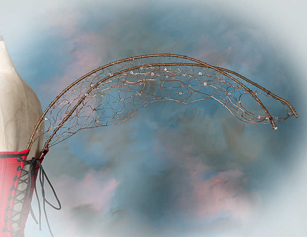 Copper wire & Swarovski crystal fairy wings