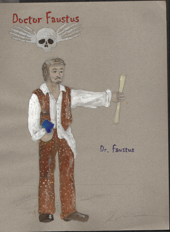 Dr. Faustus from Faustus, costume design by Katharine Tarkulich