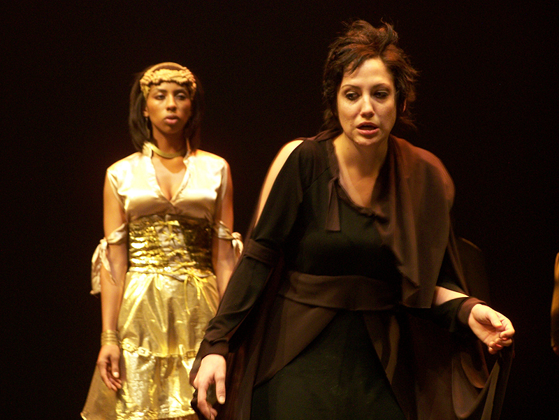 Helen and Hecuba in The Women of Troy costume design by Katharine Tarkulich