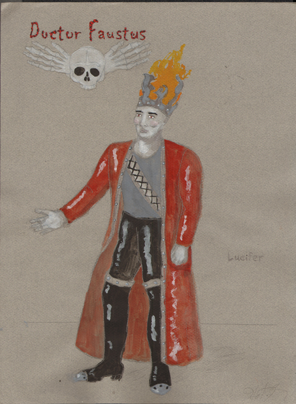 Lucifer from Faustus, costume design by Katharine Tarkulich
