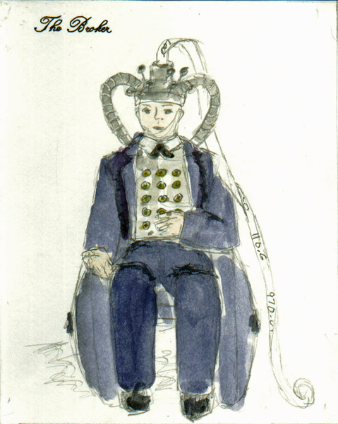 The Broker from The Madwoman of Chaillot, steam punk costume design by Katharine Tarkulich