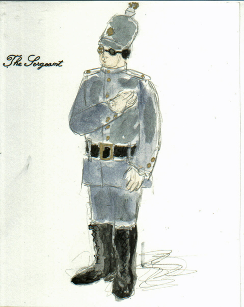 The Sergeant from The Madwoman of Chaillot, steam punk costume design by Katharine Tarkulich
