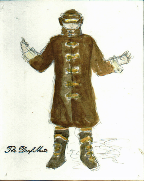 The Deaf Mute from The Madwoman of Chaillot, steam punk costume design by Katharine Tarkulich