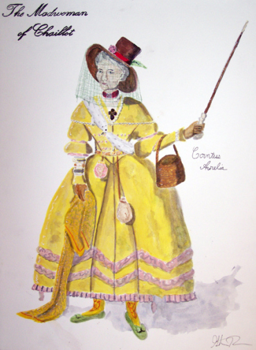 Countess Aurelia from The Madwoman of Chaillot, costume design by Katharine Tarkulich