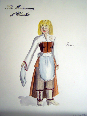 Irma from The Madwoman of Chaillot, steam punk costume design by Katharine Tarkulich