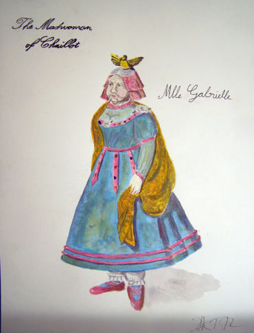 Mlle. Gabrielle from The Madwoman of Chaillot, costume design by Katharine Tarkulich
