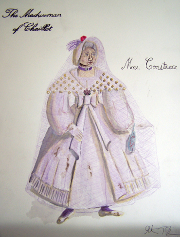 Mme. Constance from The Madwoman of Chaillot, costume design by Katharine Tarkulich
