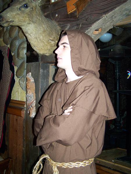 monk extra Torendion short fantasy film, costume design by Katharine Tarkulich