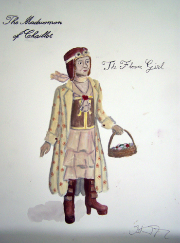 The Flower Girl from The Madwoman of Chaillot, steam punk costume design by Katharine Tarkulich
