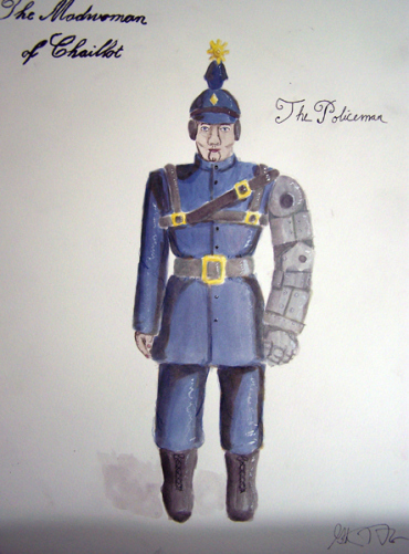 The Policeman from The Madwoman of Chaillot, steam punk costume design by Katharine Tarkulich