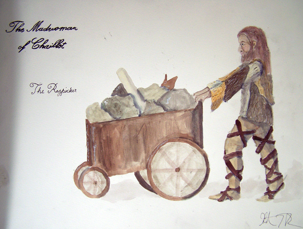 The Ragpicker from The Madwoman of Chaillot, steam punk costume design by Katharine Tarkulich