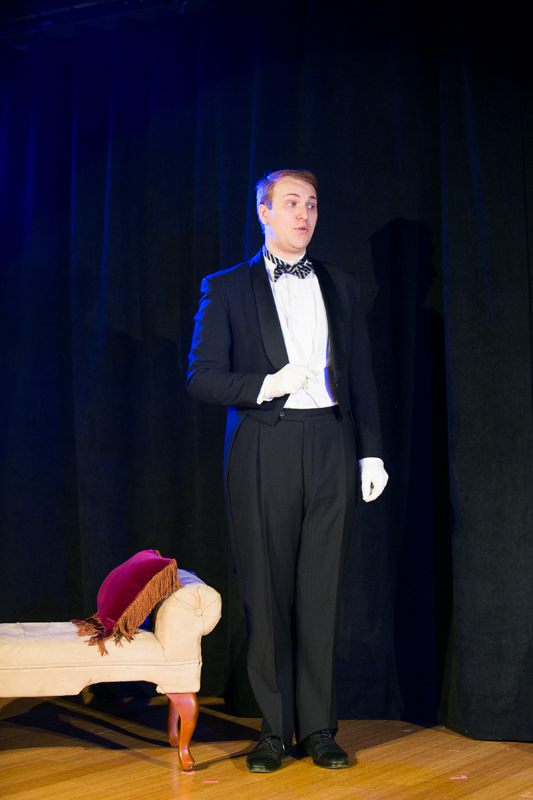 Lane the butler in The Importance of Being Earnest, costume design by Katharine Tarkulich
