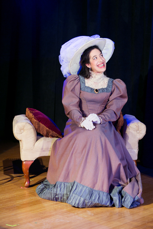 Gwendolyn Fairfax in The Importance of Being Earnest, costumes designed by Katharine Tarkulich