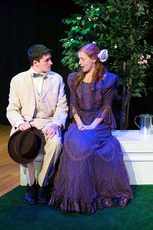 Algernon Moncrieff and Cecily Cardew in The Importance of Being Earnest, costumes designed by Katharine Tarkulich