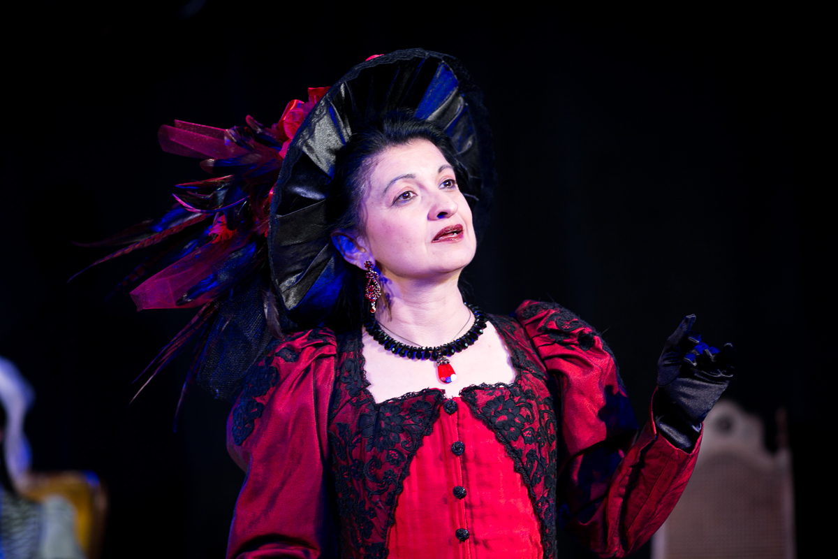 Lady Bracknell in The Importance of Being Earnest, costumes designed by Katharine Tarkulich