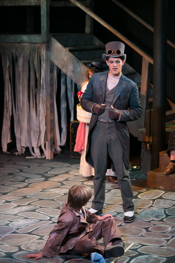 Oliver and Artful Dodger in Oliver! steampunk costume design by Katharine Tarkulich
