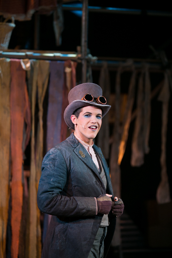 Artful Dodger in Oliver! steampunk costume design by Katharine Tarkulich