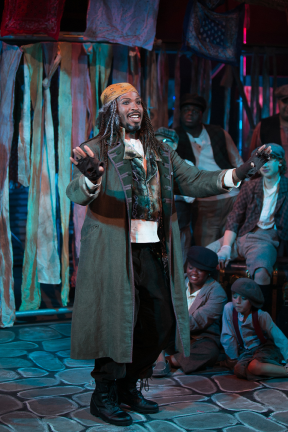 Fagin sing You Got to Pick a Pocket in Oliver! steampunk costume design by Katharine Tarkulich