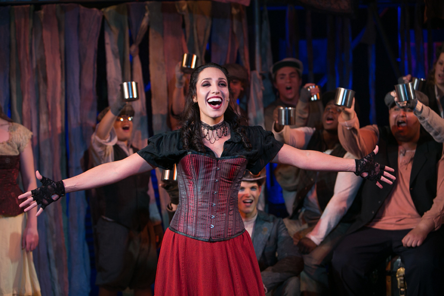 Nancy sings It's a Fine Life in Oliver! steampunk costume design by Katharine Tarkulich