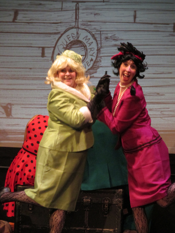 Sponge and Spiker from James and the Giant Peach school tour, costume design by Katharine Tarkulich