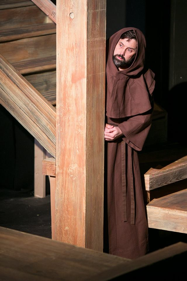 Visiting Friar from Act 1 of Sarah Ruhl's Passion Play costume design by Katharine Tarkulich
