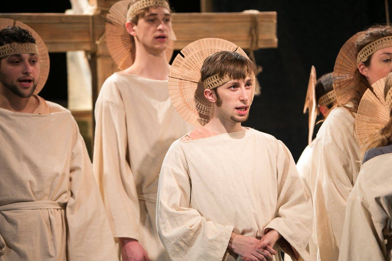 Homespun biblical ensemble in Act 1 of Sarah Ruhl's Passion Play costume design by Katharine Tarkulich