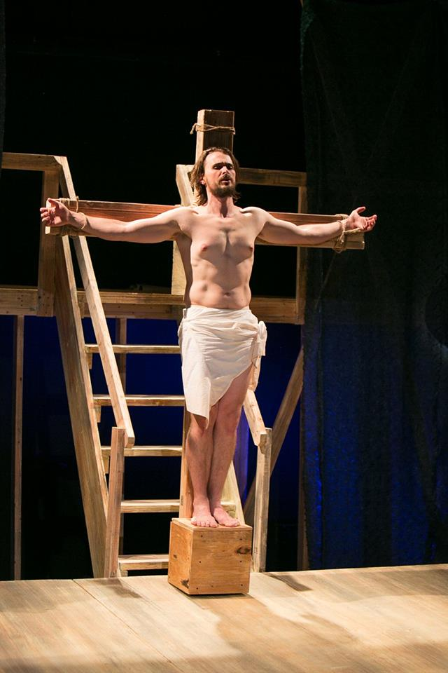 James as Jesus in Act 1 of Sarah Ruhl's Passion Play costume design by Katharine Tarkulich