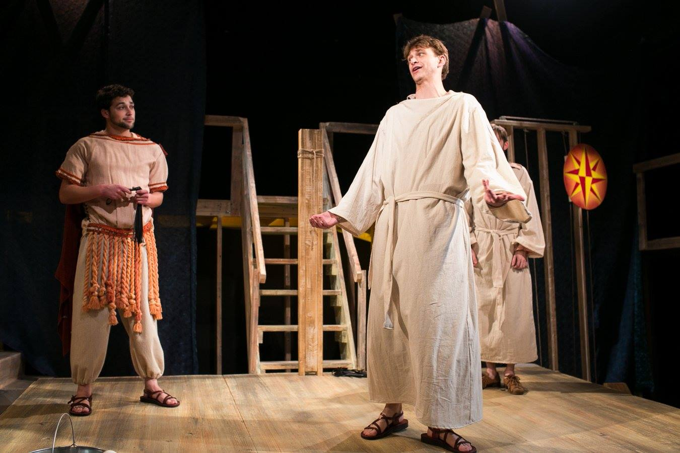 Ensemble in Act 1 of Sarah Ruhl's Passion Play costume design by Katharine Tarkulich