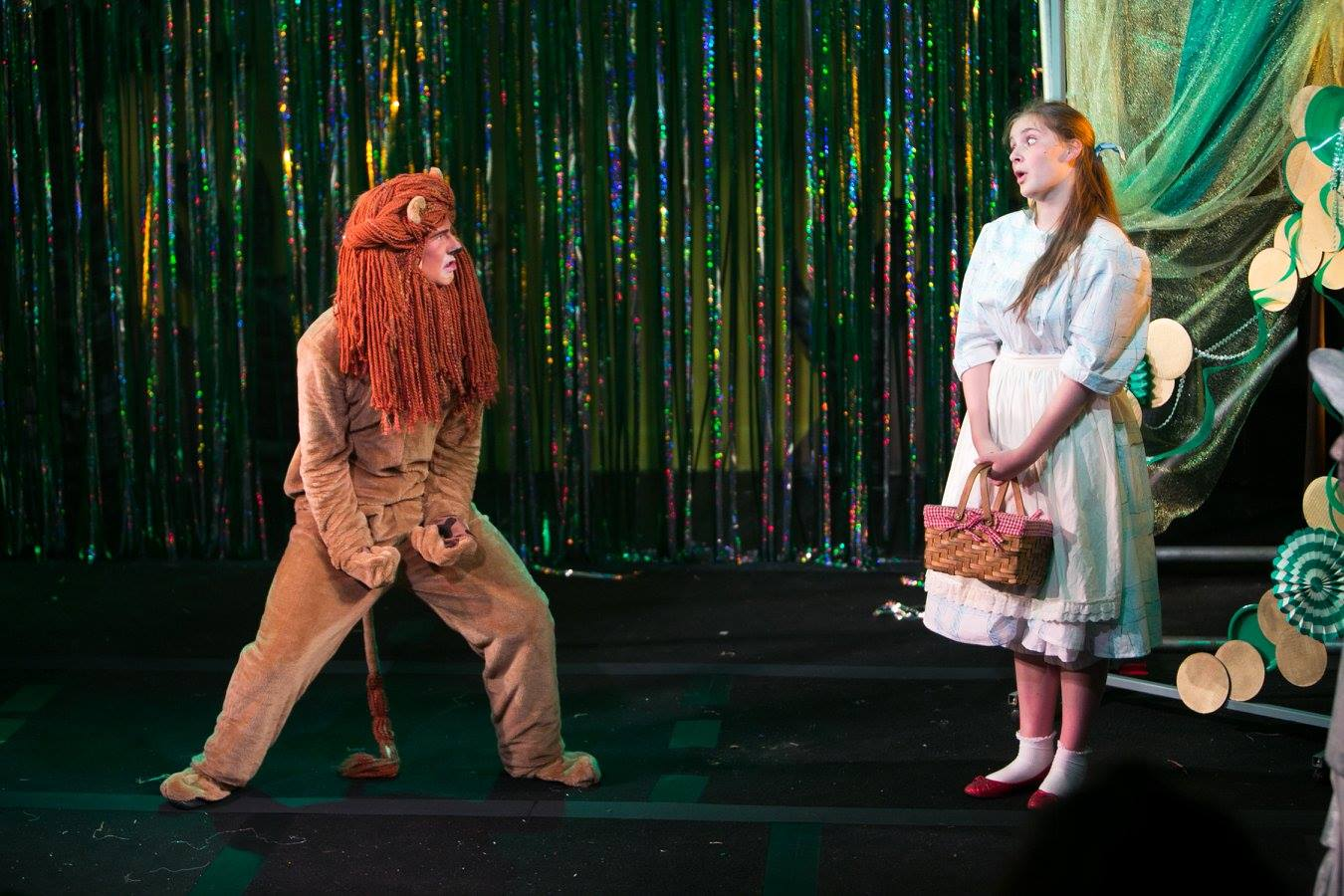 Lion and Dorothy from The Wizard of Oz costume design by Katharine Tarkulich
