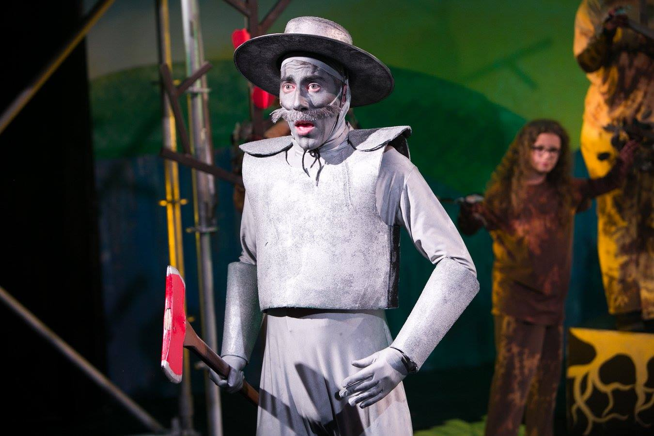 Tin Man with Trees in background from The Wizard of Oz costume design by Katharine Tarkulich