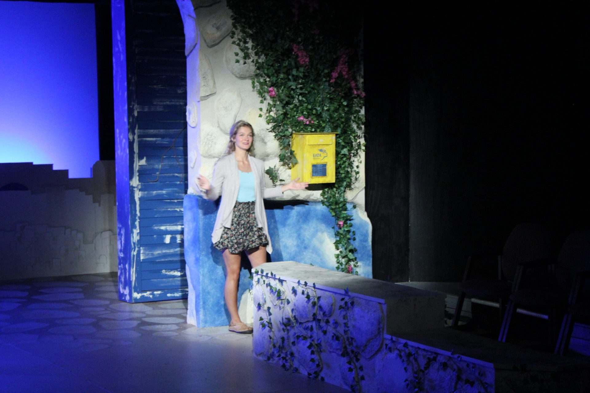 Sophie mails her invitations in Mamma Mia!, Costume design by Katharine Tarkulich